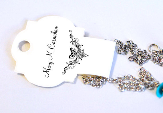 Lovely Jewelry Tags | Die Cut Jewelry Hang Tags | Jewelry Tag UK OK06