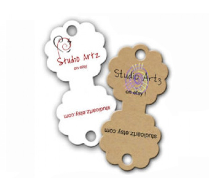 Round Fold Over Tags