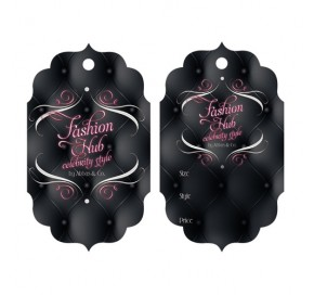 Die Cut Hair Serum Hang Tags