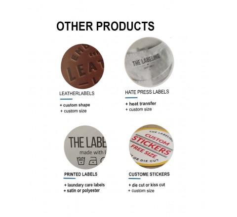 Round Woven Tags