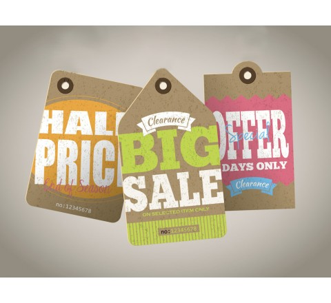 Custom Sale Tags