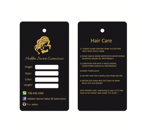 Custom Hair Serum Hang Tags