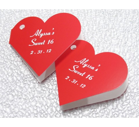 Die Cut Mini Heart Tags