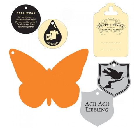 Die cut Mini Tags