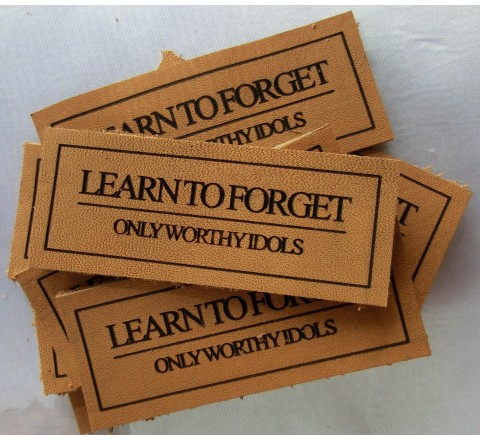 Die Cut Leather Hang Tags