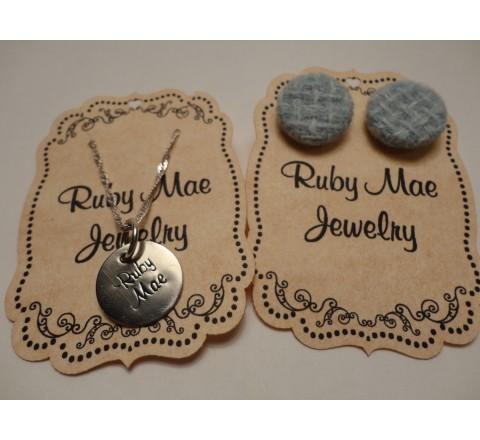 Die Cut jewelry tags