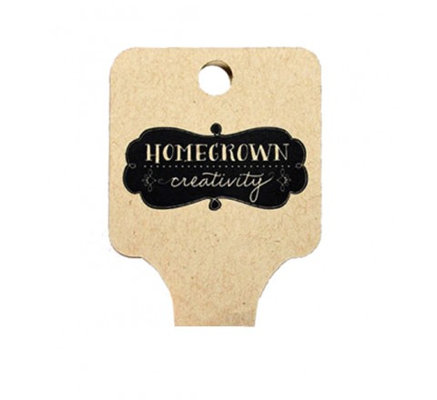 Die Cut Classic Fold Over Tag