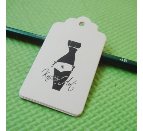 Die Cut Apparel Tags