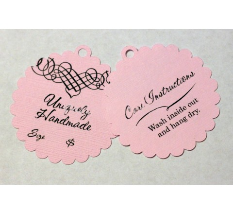 Die Cut Bent Oval Tags