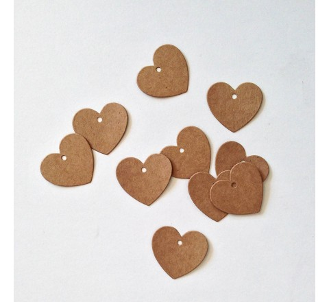 Custom Mini Heart Tags