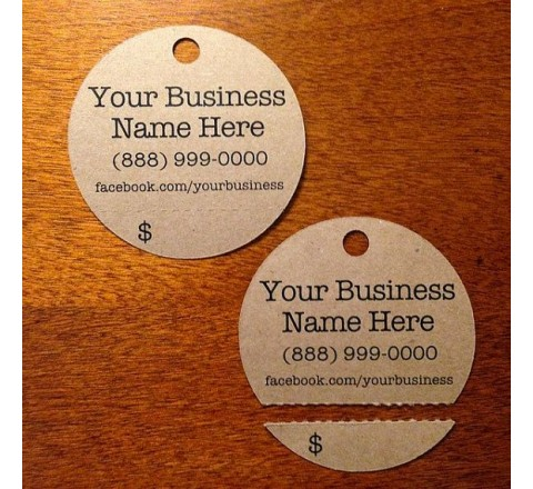 Round Tear-off Tags