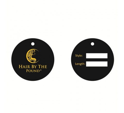 Round Hair Serum Hang Tags