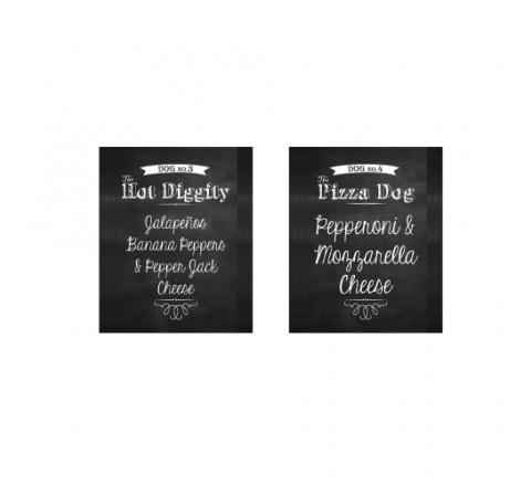 Square Cheese Hang Tags